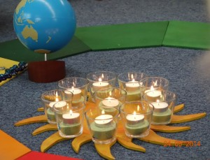 10jähriges Jubiläum im Montessori Kindergarten Frasdorf - Teelichter