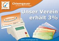 Chiemgauer Schild Verein im Montessori Kindergarten Frasdorf