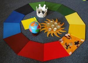 Geburtstagskreis im Montessori Kindergarten Frasdorf