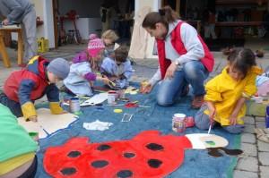 Holzfigurenherstellung für Montessori Kindergarten Frasdorf