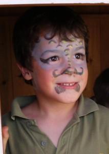 Kinderschminken1 beim Montessori Kindergarten Frasdorf