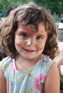 Kinderschminken2 beim Montessori Kindergarten Frasdorf