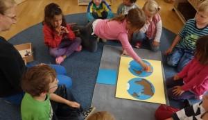Kosmosarbeit im Montessori Kindergarten Frasdorf