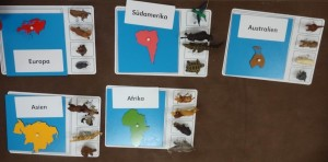 Kosmosmaterial im Montessori Kindergarten Frasdorf