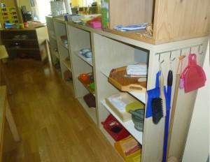 Regale - vorbereitete Umgebung im Montessori Kindergarten Frasdorf