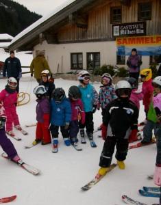 Skikurs vom Montessori Kindergarten Frasdorf