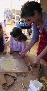 St. Martinsgänse backen im Montessori Kindergarten Frasdorf