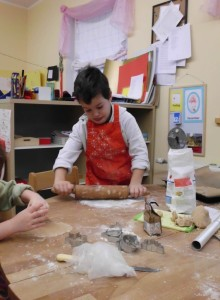 backen im Montessori Kindergarten Frasdorf