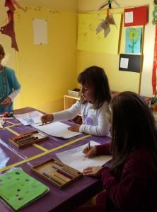 malen im Montessori Kindergarten Frasdorf