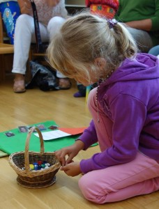 zählen im Montessori Kindergarten Frasdorf